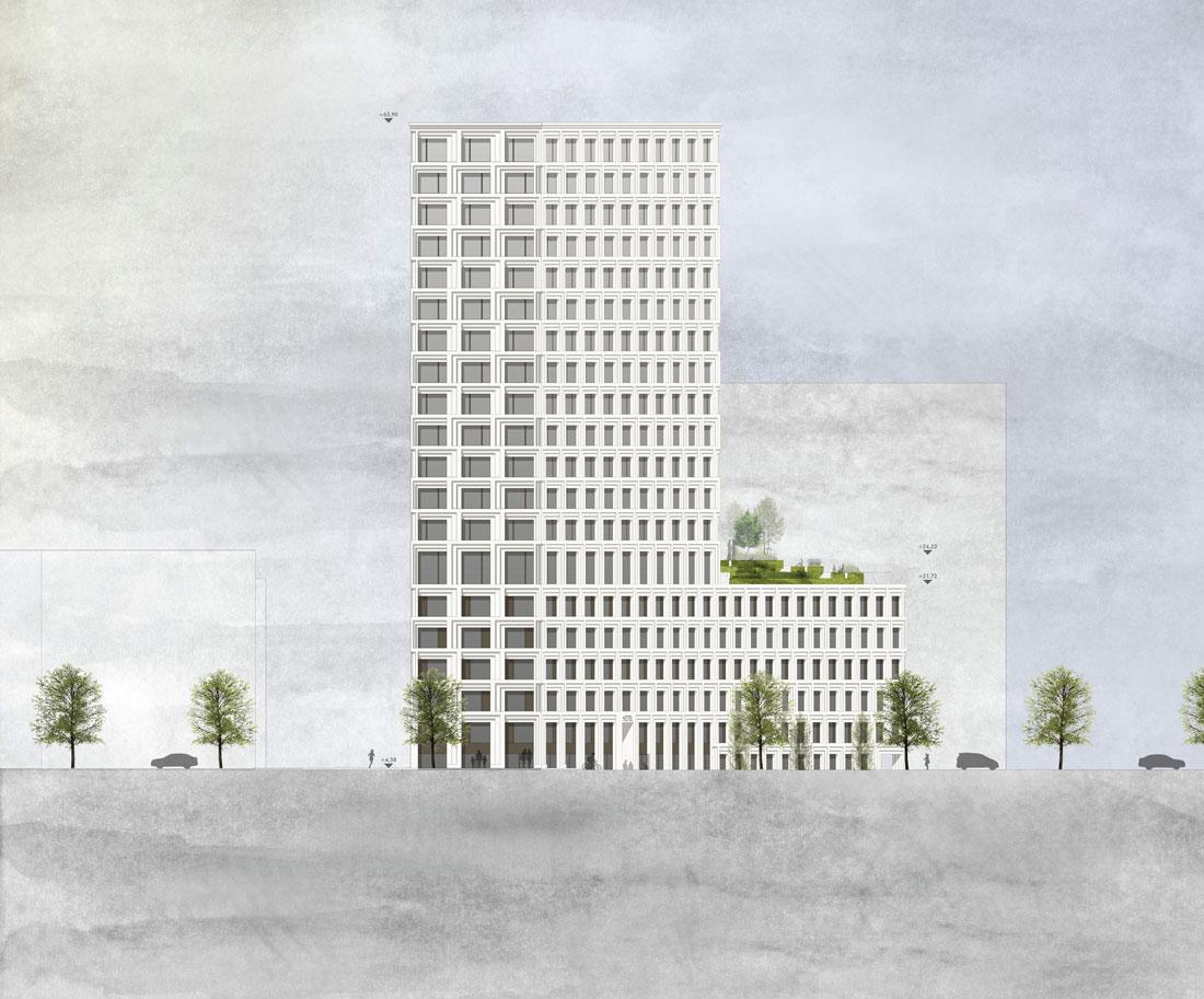 Turm am Mailänder Platz Stuttgart