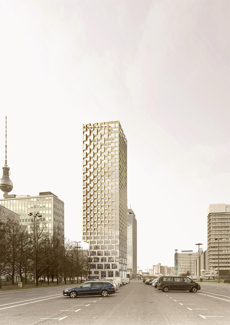 Wohnhochhaus am Alexanderplatz Berlin