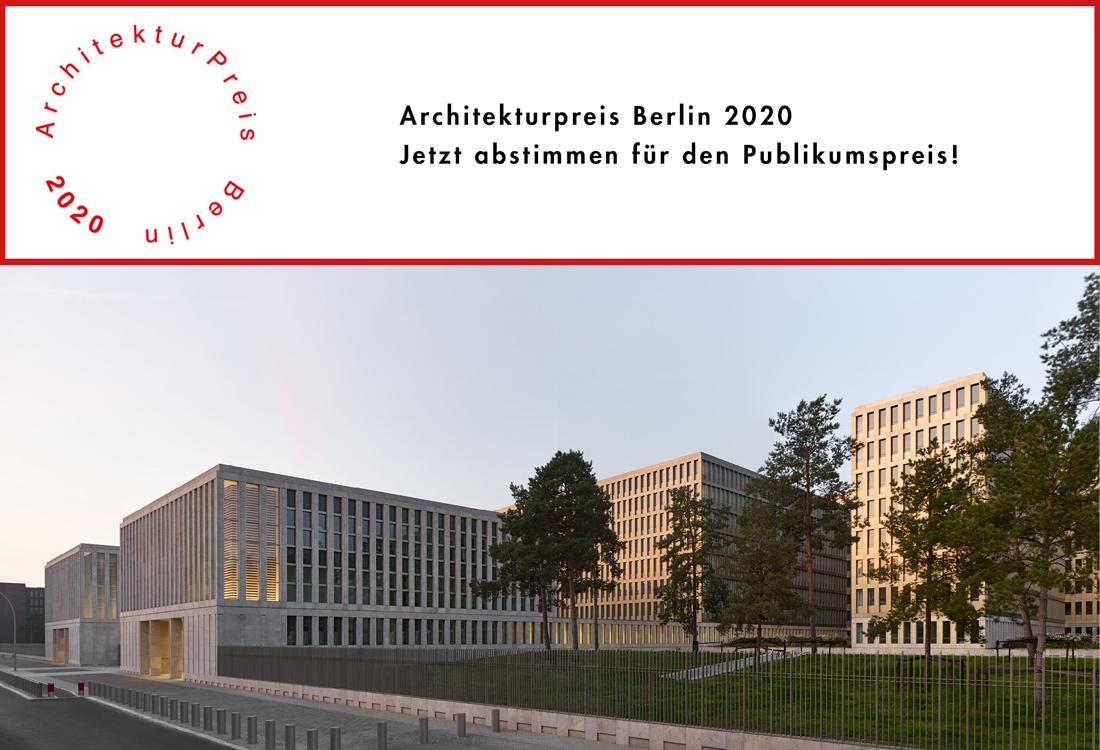 Architekturpreis Berlin 2020 Kleihues BND